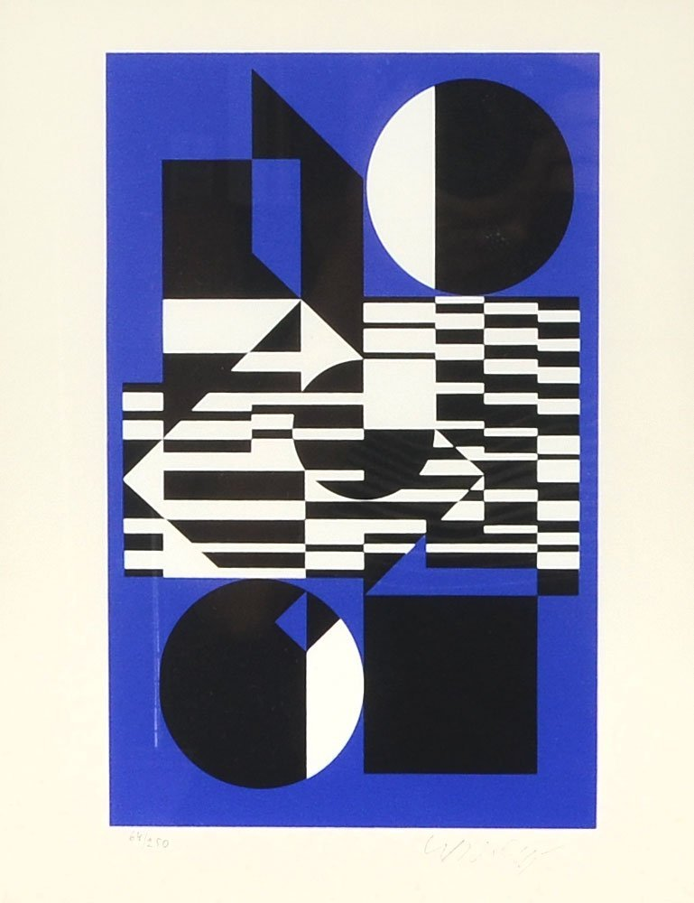 VASARELY SERIGRAPH GEOMETRIC COMPOSITION