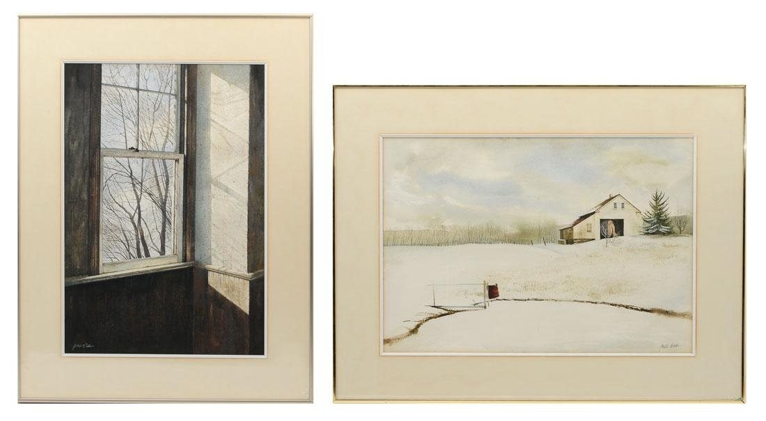 TWO JAMES DEAN WATERCOLOR PAINTINGS - 2