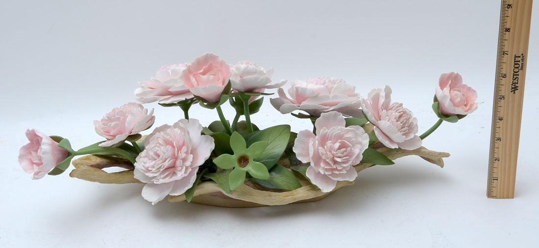 BOEHM PORCELAIN PINK PEONY & CHRYSANTHEMUM FLOWERS - 2