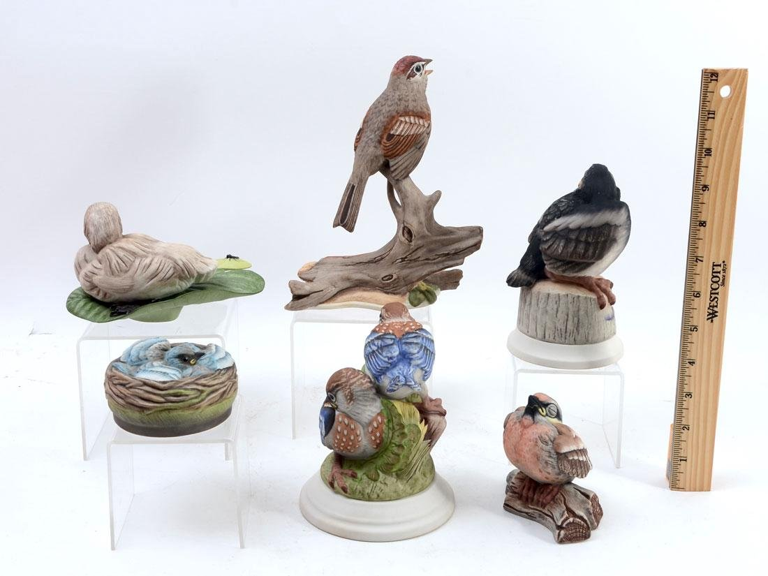 6 PIECE BOEHM PORCELAIN BIRD FIGURINES - 2