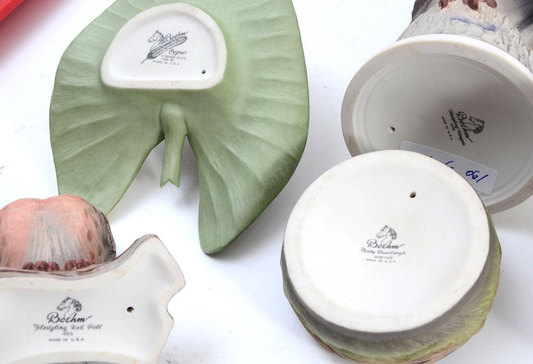 6 PIECE BOEHM PORCELAIN BIRD FIGURINES - 3