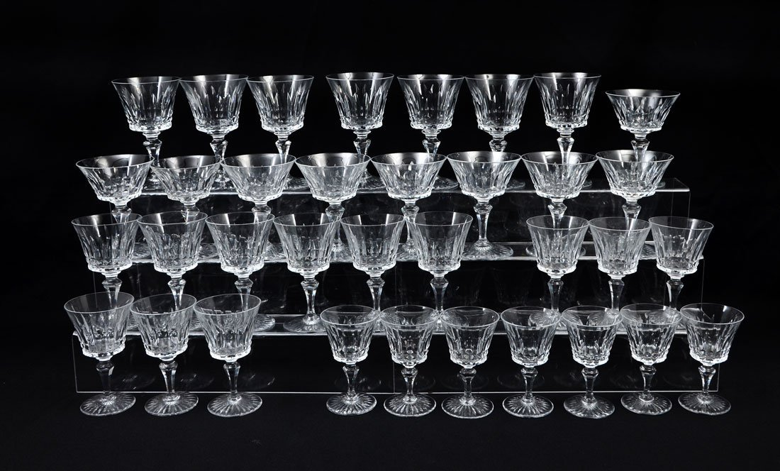 35 pc. BACCARAT BUCKINGHAM CRYSTAL STEMWARE