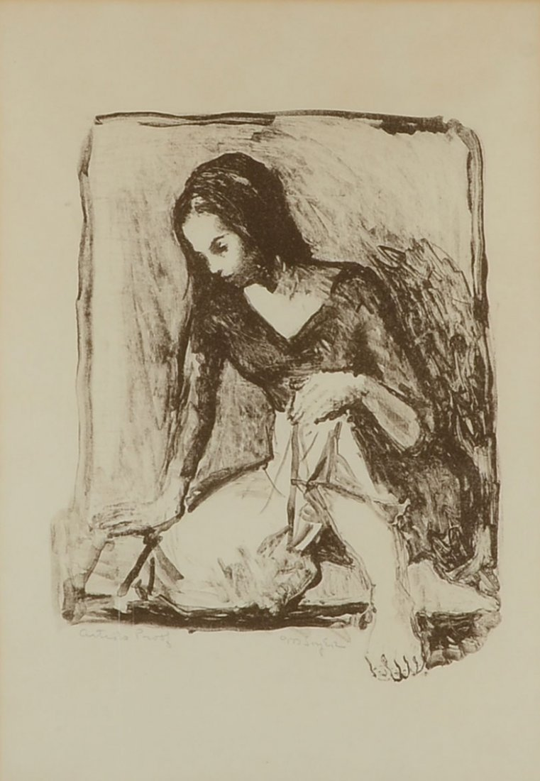 MOSES SOYER ARTIST PROOF LITHOGRAPH