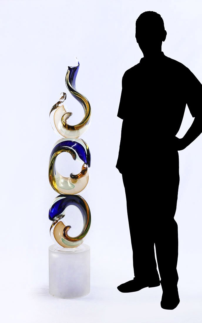 MASSIVE ROMANO DONA MURANO ART GLASS SCULPTURE