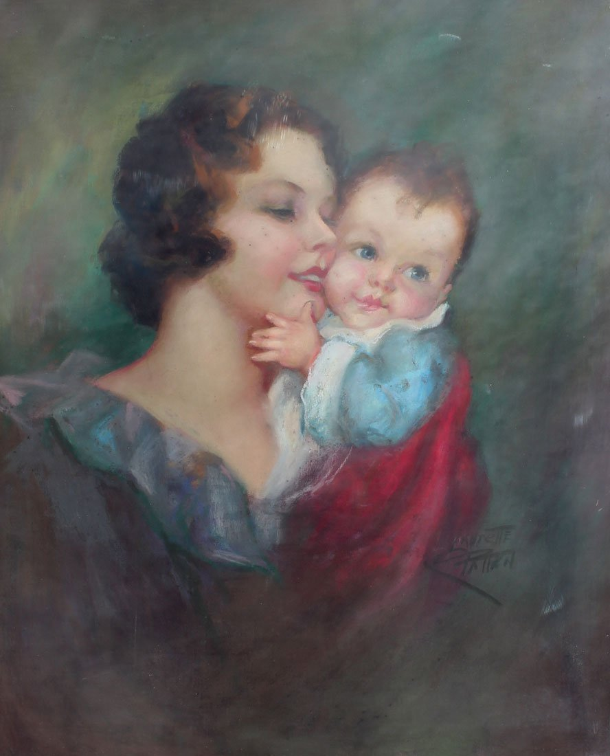 LAURETTE PATTEN ILLUSTRATION MOTHER AND CHILD