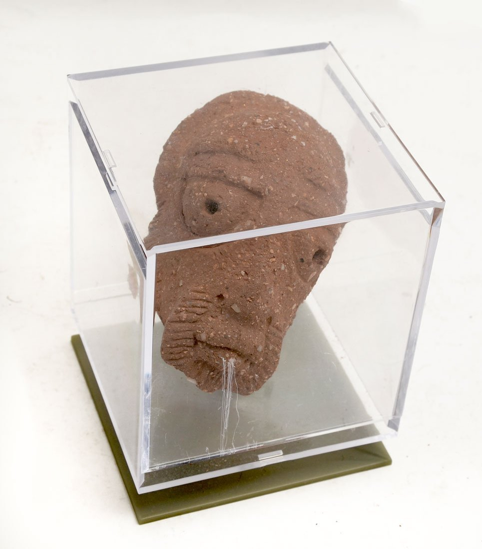 ETHNIC CARVED SANDSTONE HEAD