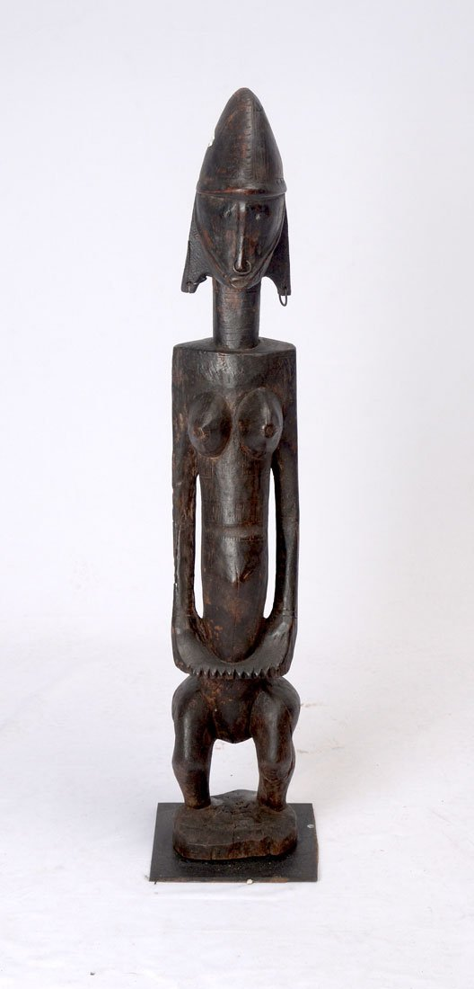 WEST AFRICAN DAN PEOPLES CARVED FEMALE FIGURE