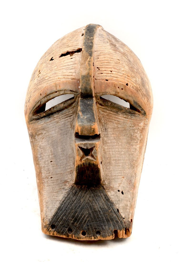 AFRICAN SONGYE KIFWEBE CARVED MASK