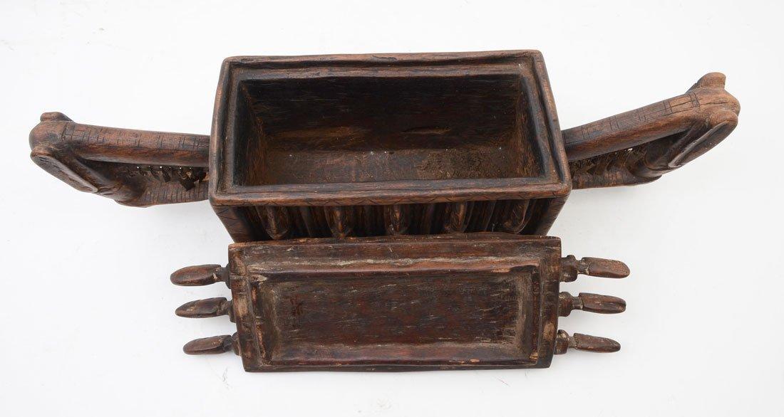 WEST AFRICAN DOGON CARVED FIGURAL MEDICINE BOX - 2
