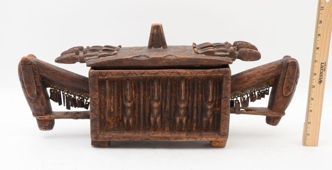 WEST AFRICAN DOGON CARVED FIGURAL MEDICINE BOX - 4