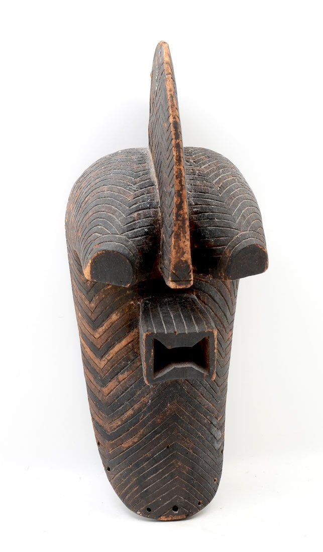 AFRICAN CARVED SONGYE KIFWEBE CRESTED MASK