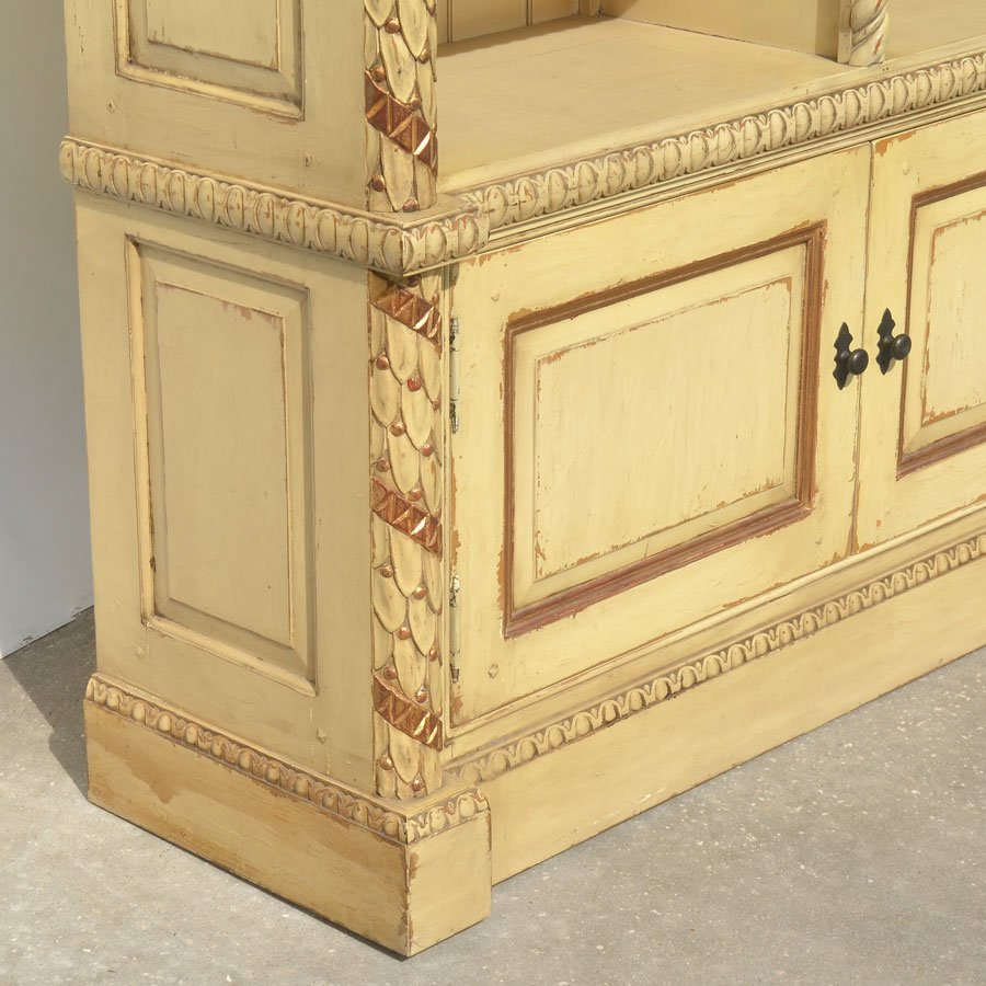 CONTINENTAL CARVED & PAINTED BOOKCASE - 3