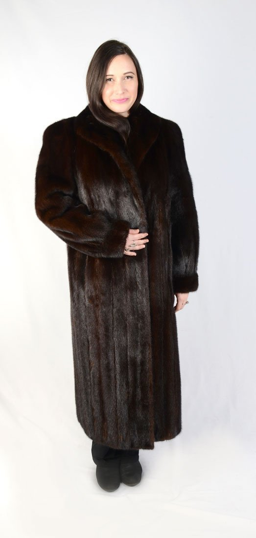 VINTAGE MAISON BLANCHE FULL LENGTH FUR COAT: