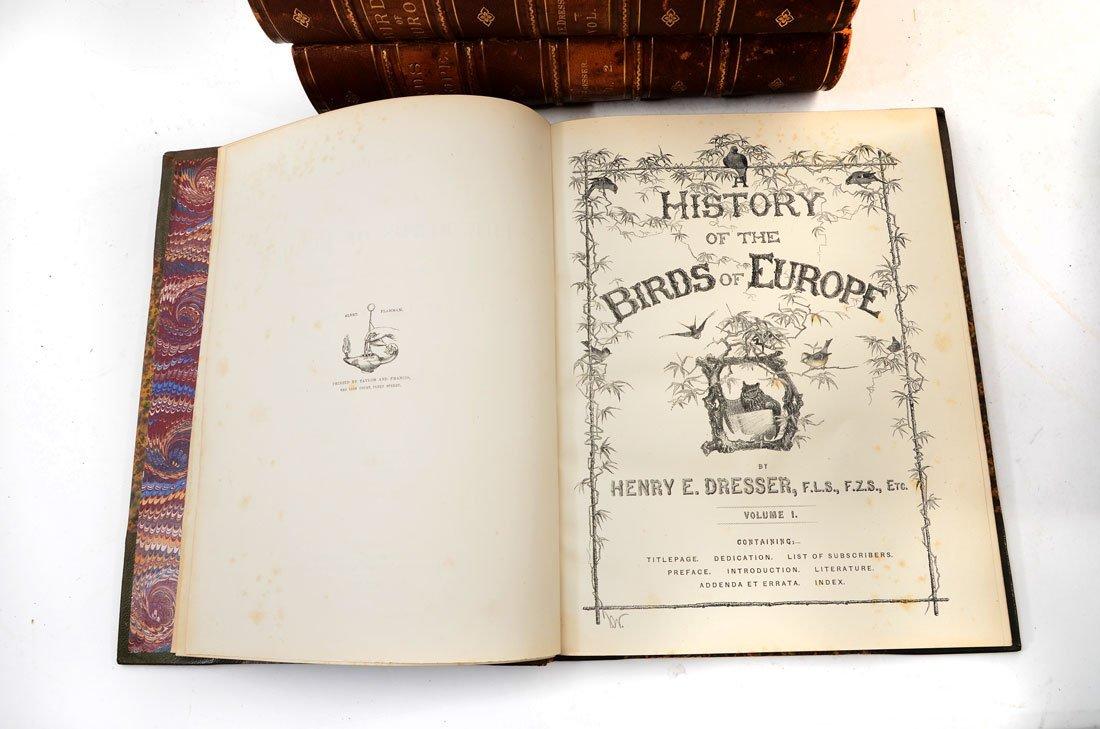 H. E. DRESSER 9 VOL HISTORY OF THE BIRDS OF EUROPE - 2