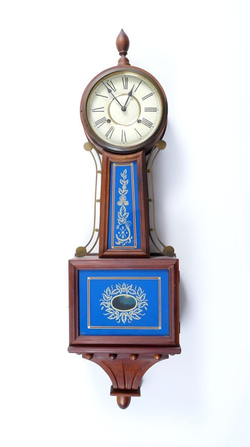 LARGE REVERSE PAINTED BANJO CLOCK