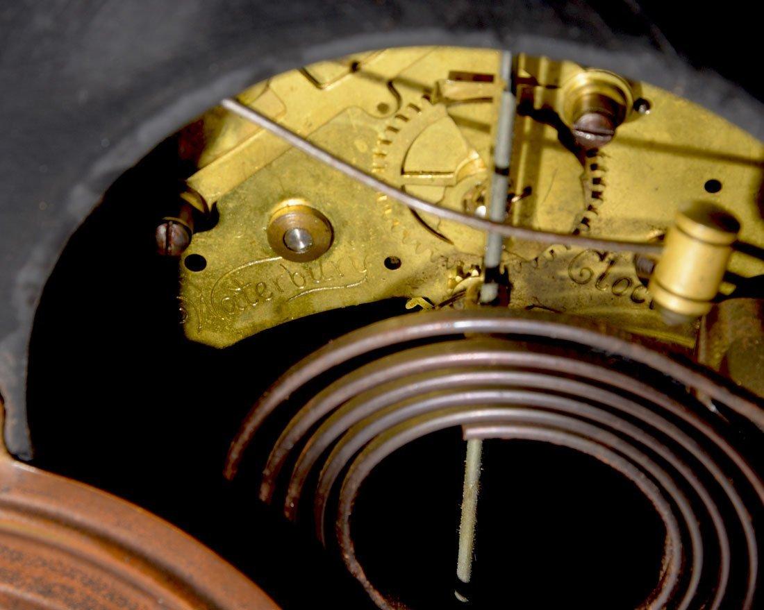 WATERBURY CAST IRON AND GILT METAL MANTLE CLOCK - 3
