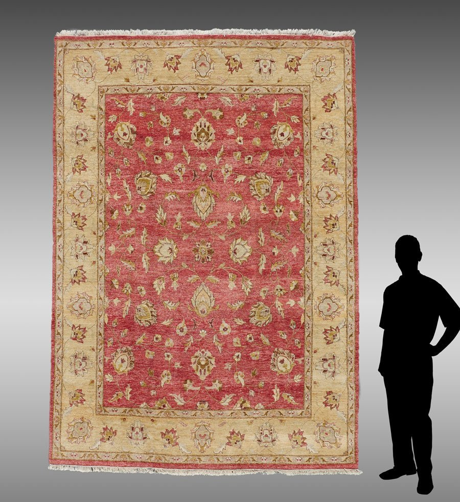 "TURKISH HK WOOL RUG, 8'1"" X 10'6"""