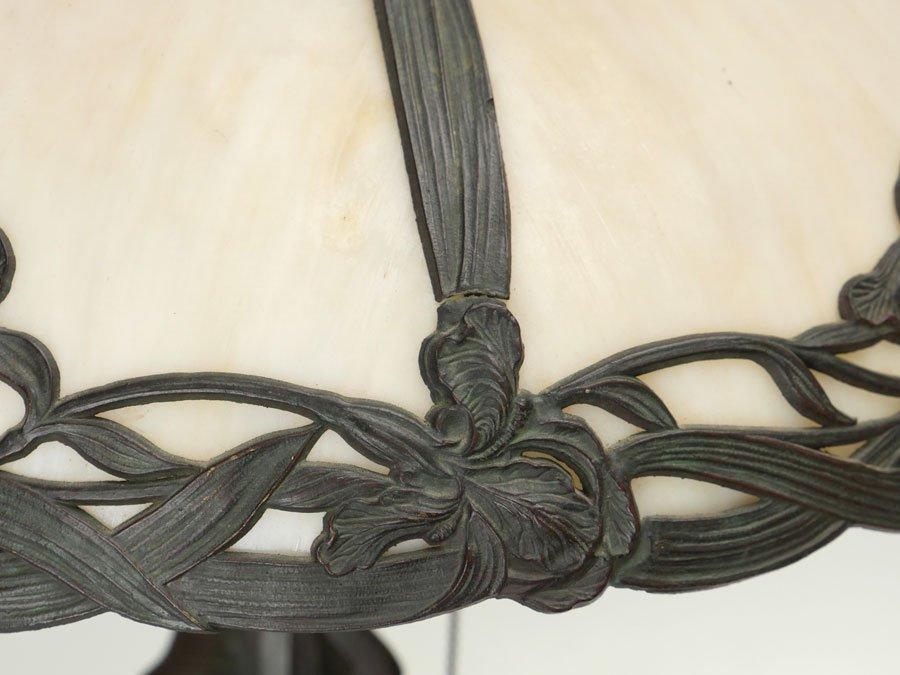 FIGURAL SLAG GLASS TABLE LAMP - 5