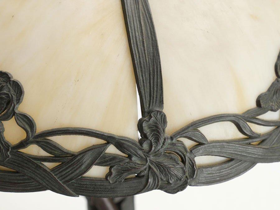 FIGURAL SLAG GLASS TABLE LAMP - 6