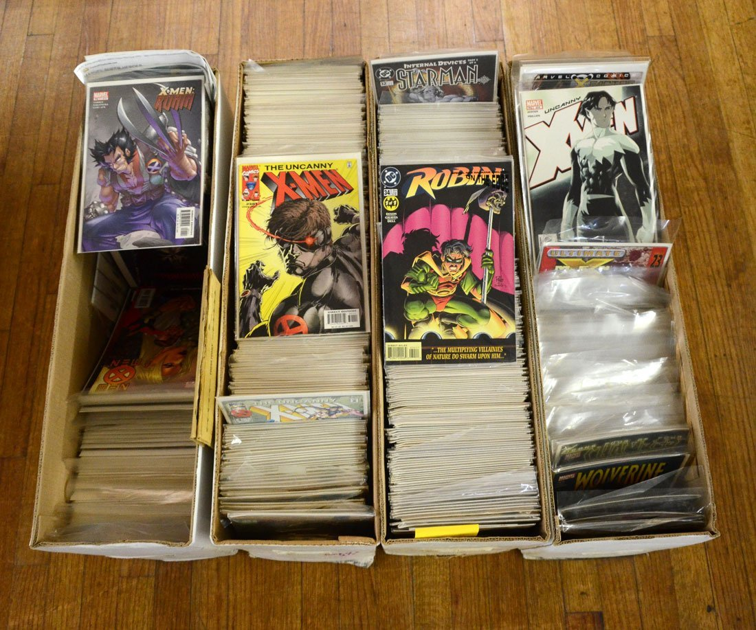 4 LONG BOXES OF MODERN AGE COMIC BOOKS