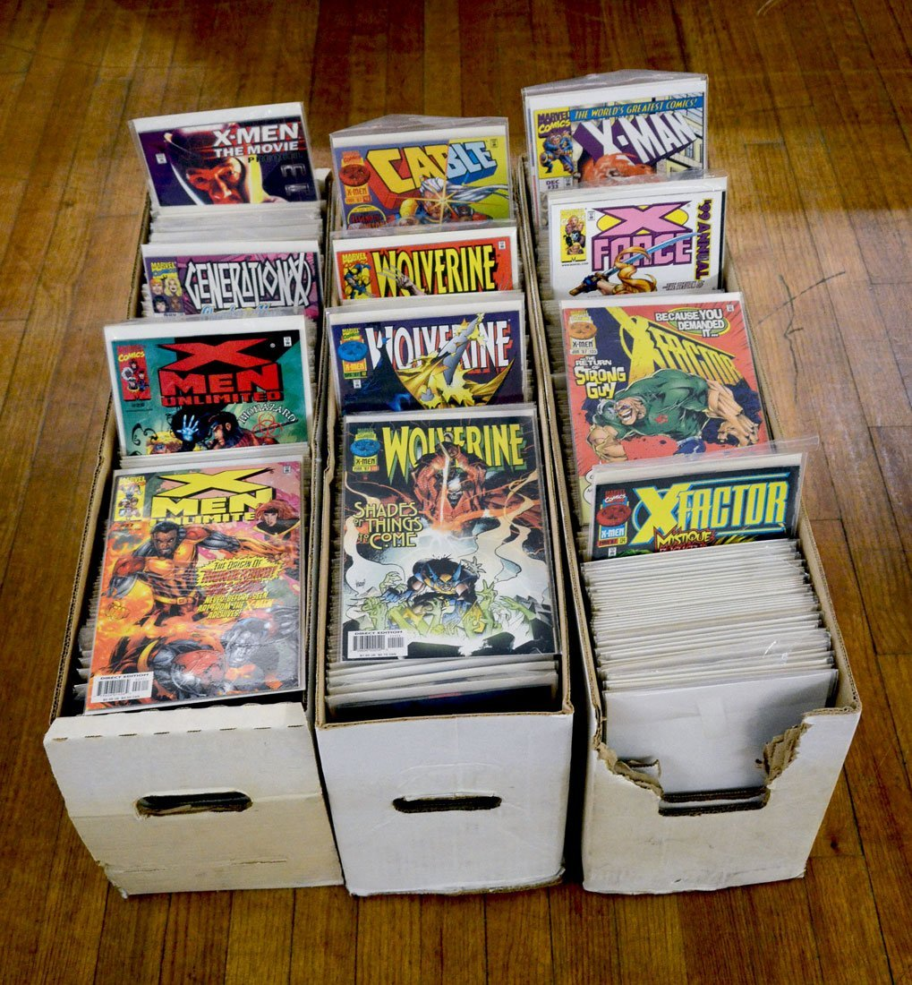 3 LONG BOXES OF MODERN AGE COMIC BOOKS