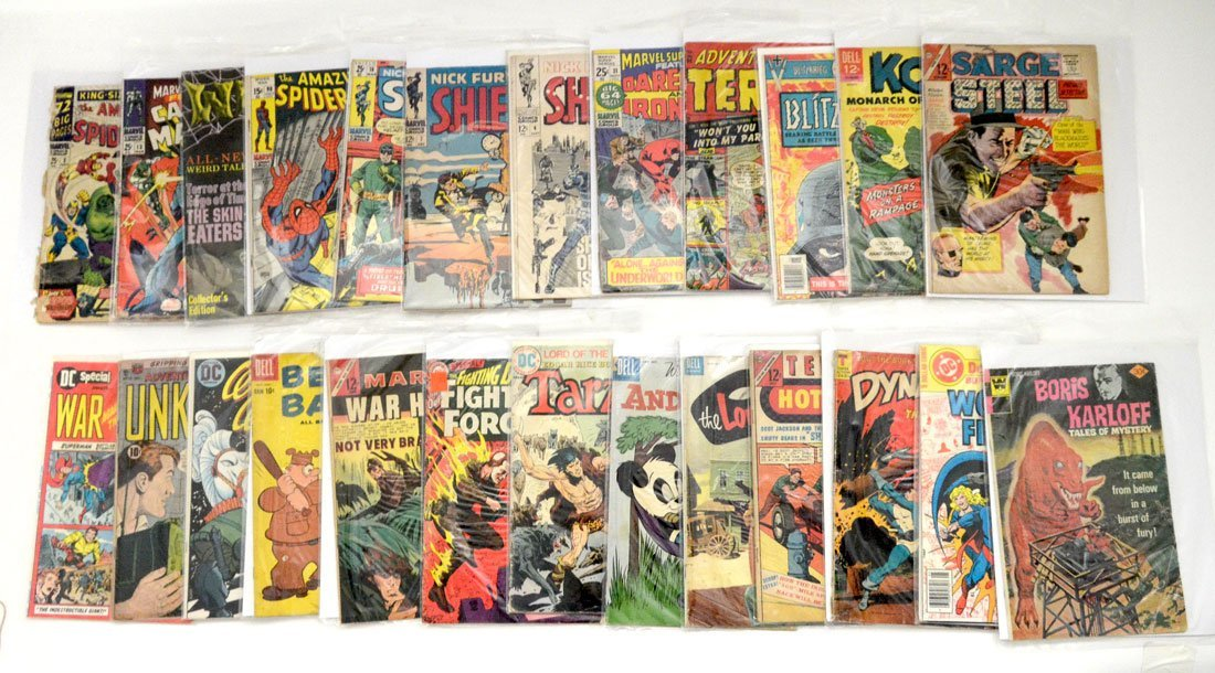 COLLECTION OF 25 GOLDEN & SILVER AGE COMIC BOOKS
