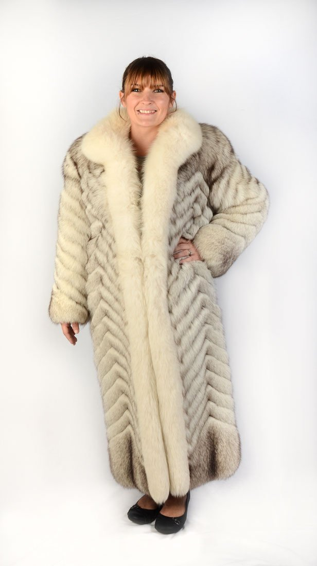 FULL LENGTH BLUE FOX COAT