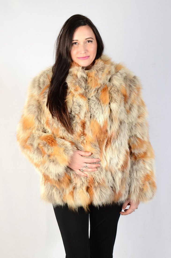 REVERSIBLE & VERSATILE GREY/RED FOX? FUR JACKET