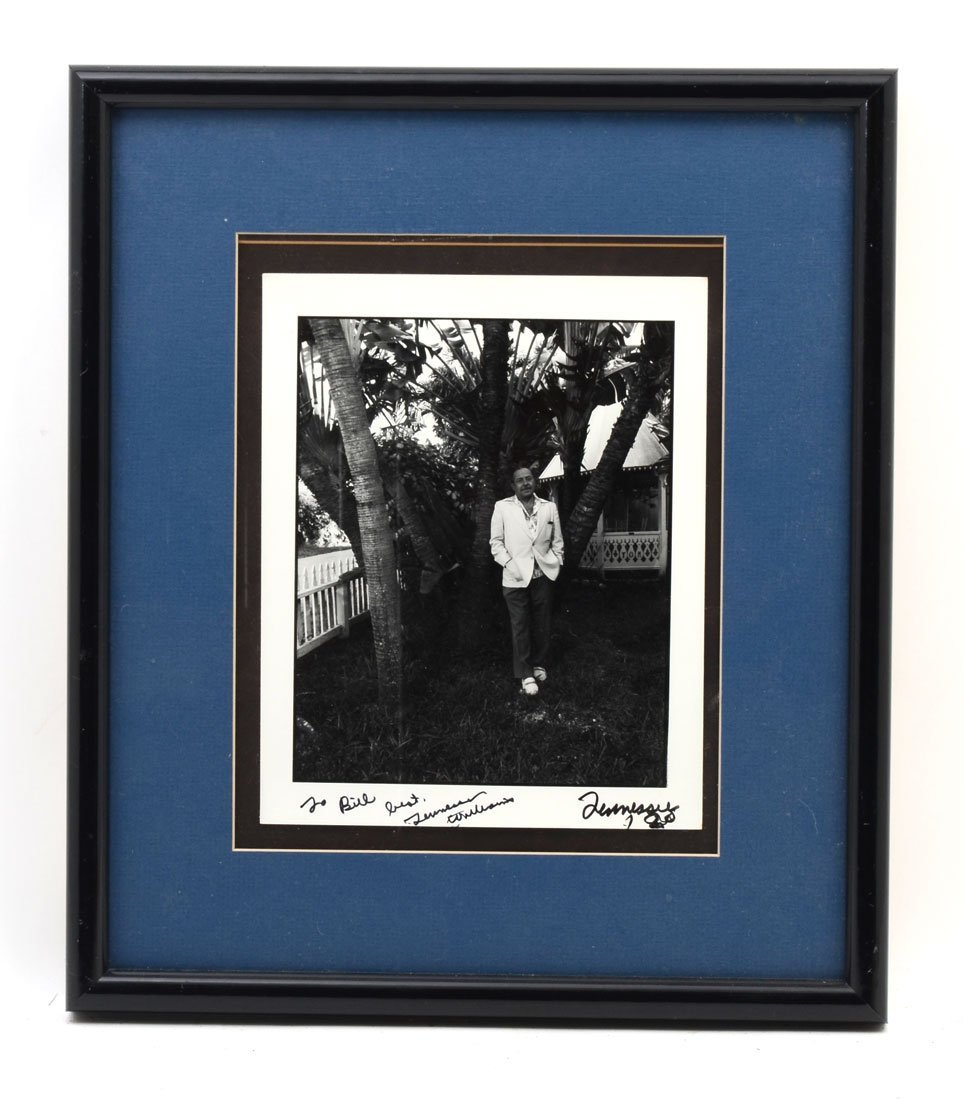 TENNESSEE WILLIAMS SIGNED PHOTOGRAPH - 2
