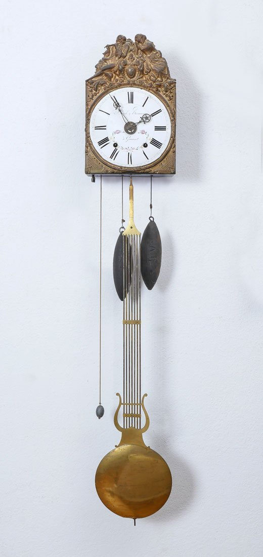 FRENCH BASILE HERMANN MORBIER WALL CLOCK