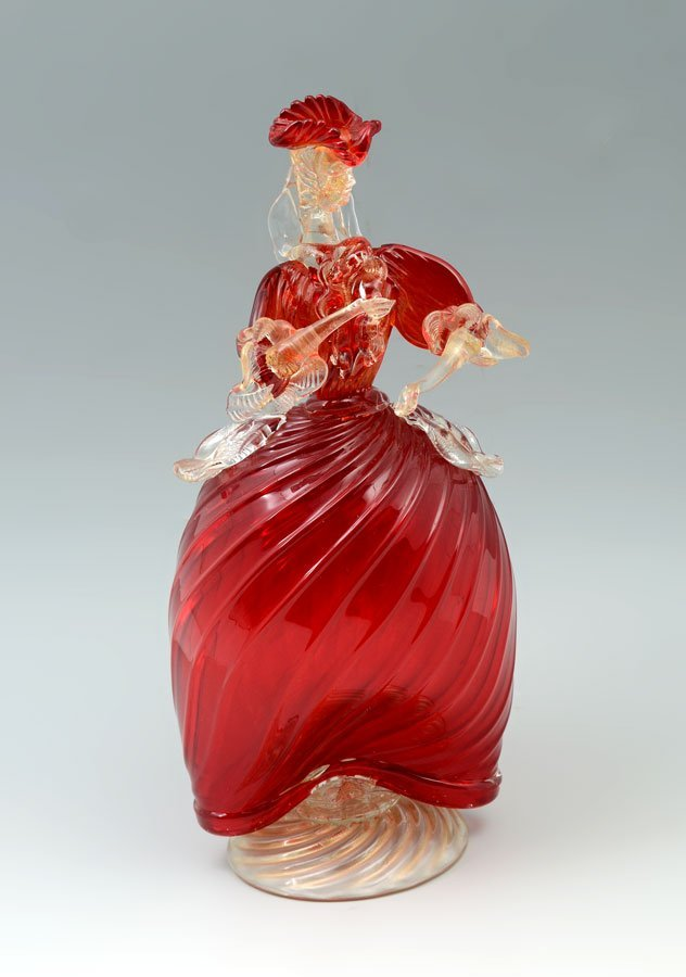 BALBOA VENETIAN GLASS FIGURAL WOMAN