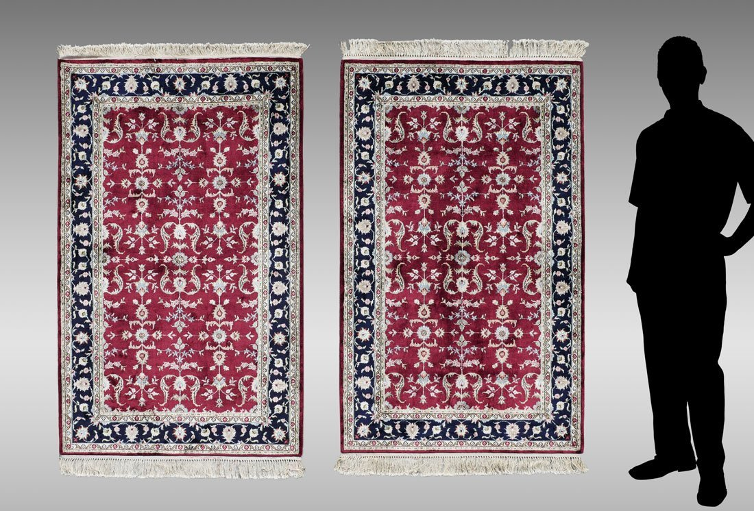 TURKISH PAIR OF HK WOOL RUGS, 3' X 5'