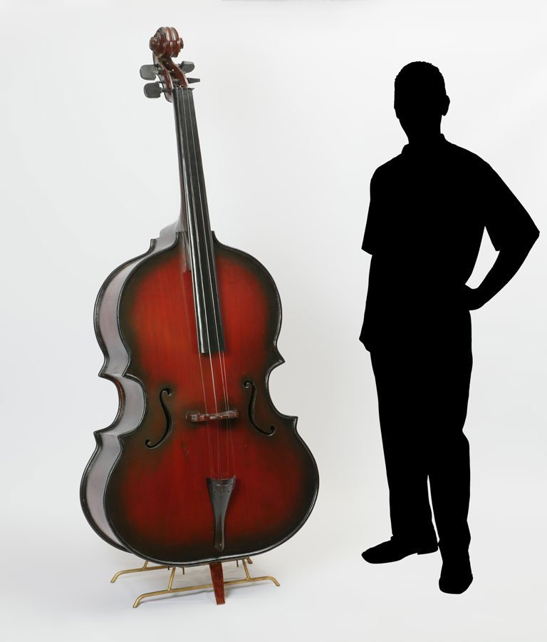LARGE STAND UP DOUBLE BASS FORM CABINET