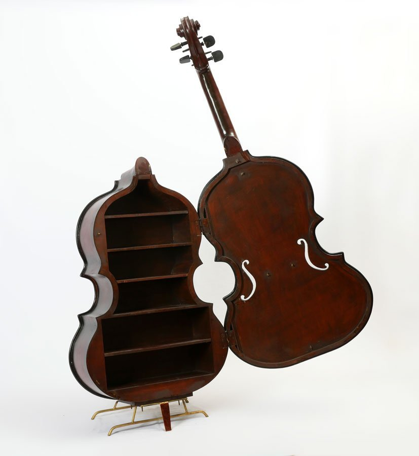 LARGE STAND UP DOUBLE BASS FORM CABINET - 2
