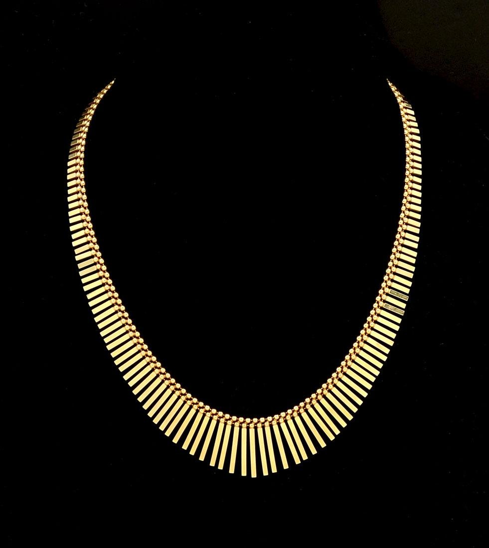 42.2 GRAM UNOAERRE 14K GOLD CLEOPATRA NECKLACE