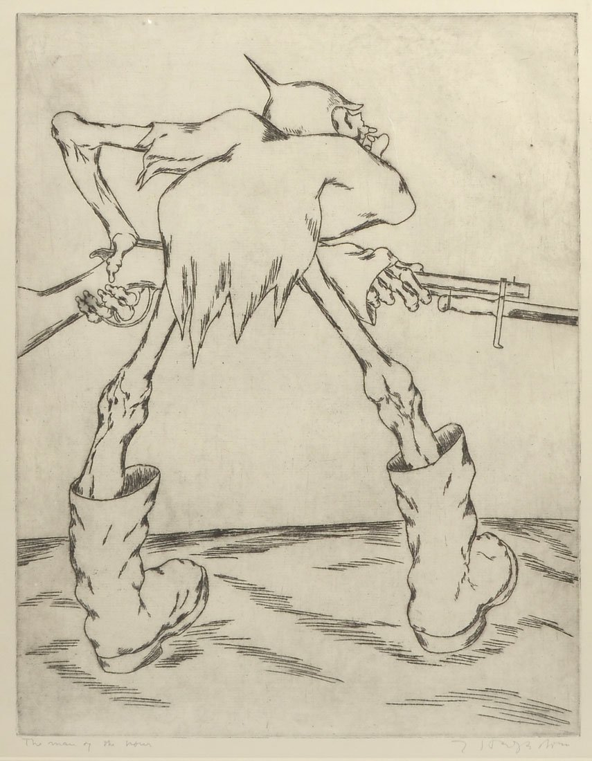 HAGEDORN ETCHING ''THE MAN OF THE HOUR''