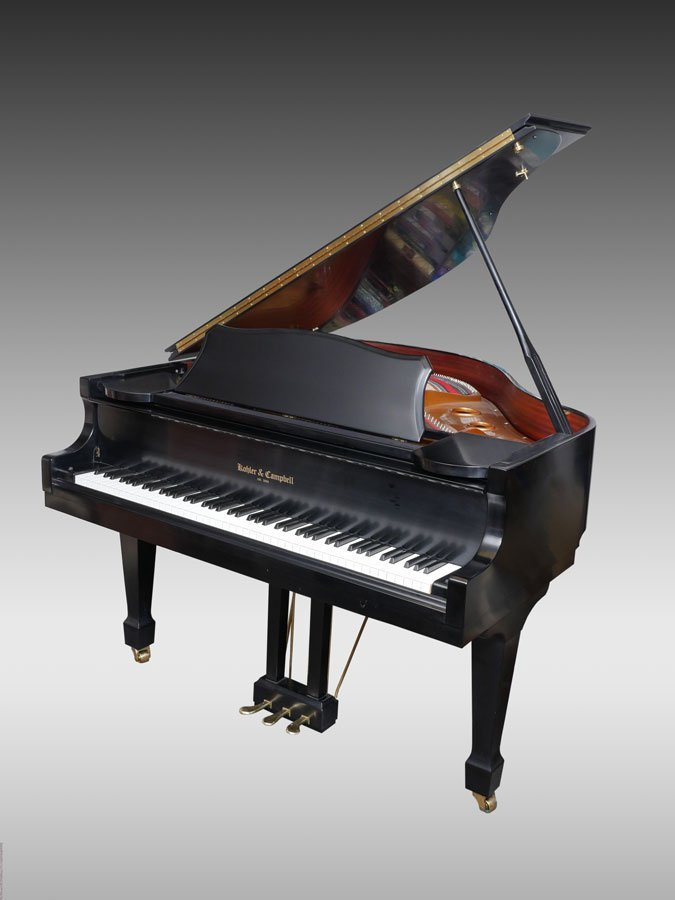 KOHLER & CAMPBELL BLACK LACQUER BABY GRAND PIANO