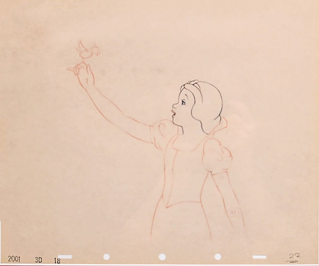 PRODUCTION DRAWING SNOW WHITE AND THE SEVEN DWARFS