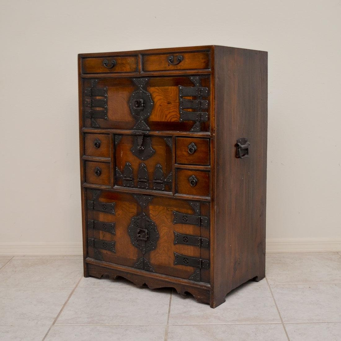 19TH CENTURY KOREAN ELMWOOD DOCUMENT CHEST
