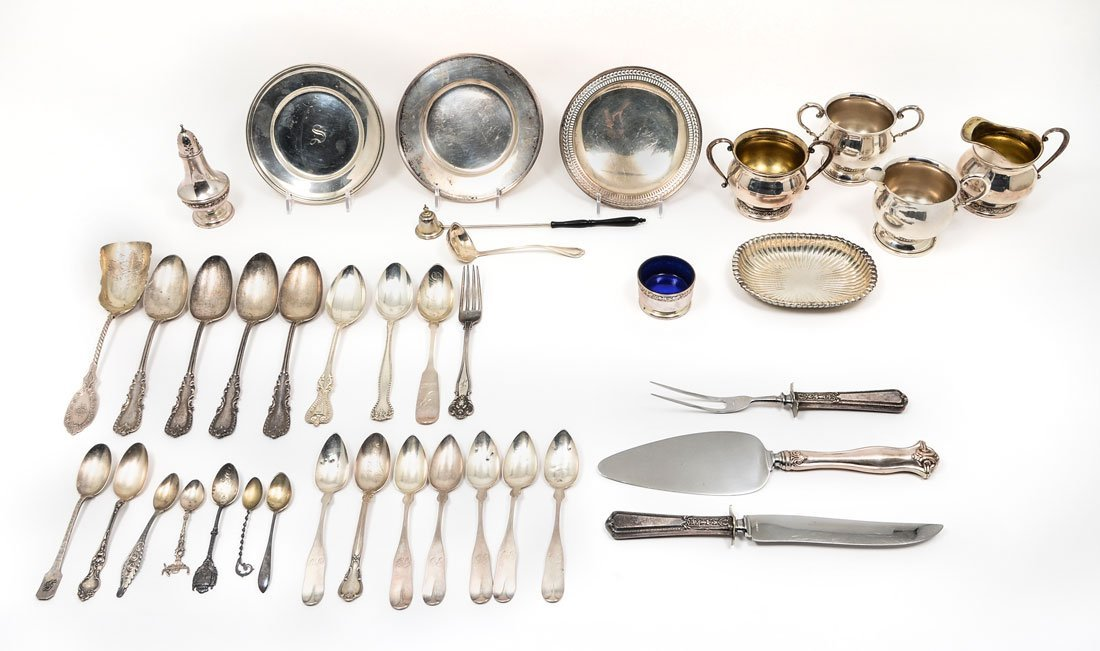 ESTATE COLLECTION OF STERLING ITEMS