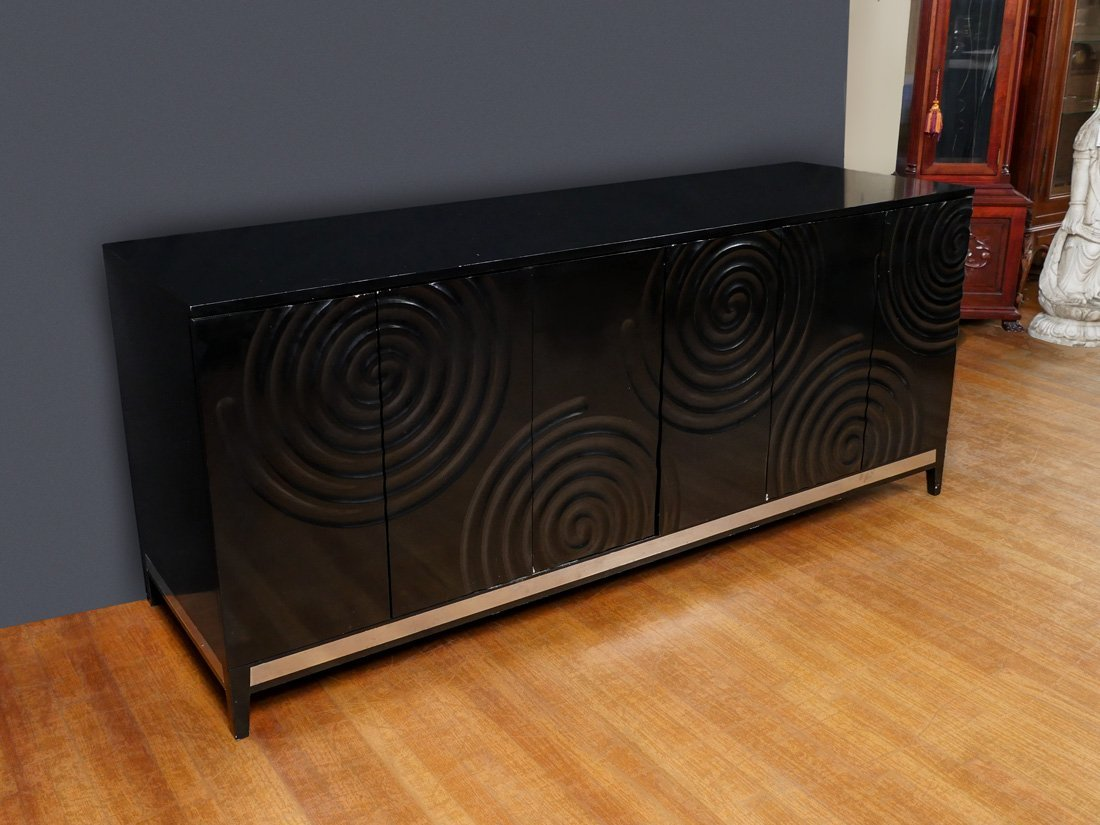 BLACK LACQUER CONTEMPORARY SIDEBOARD