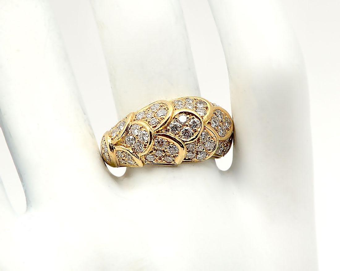 18K DOMED DIAMOND RING