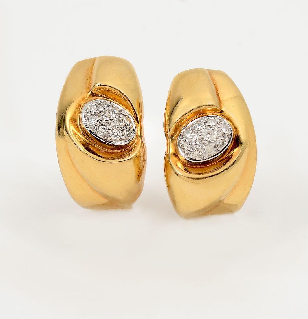 18K DIAMOND EAR CLIPS