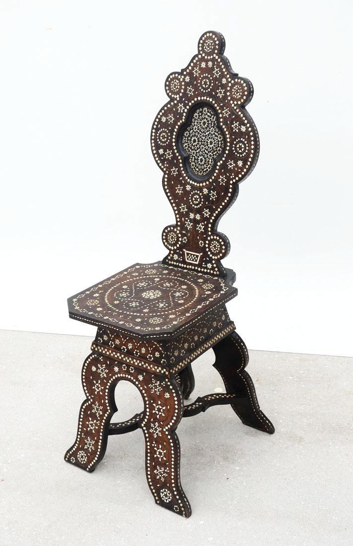 MORRISH STYLE INLAID SIDE CHAIR