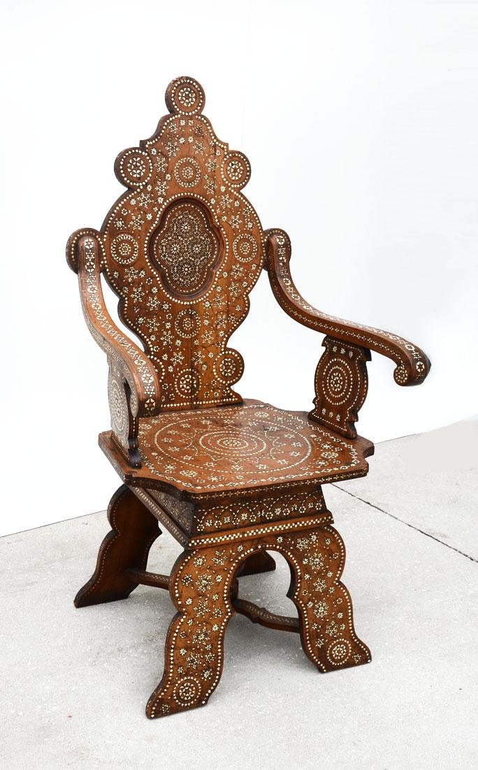 MORRISH STYLE INLAID ARM CHAIR