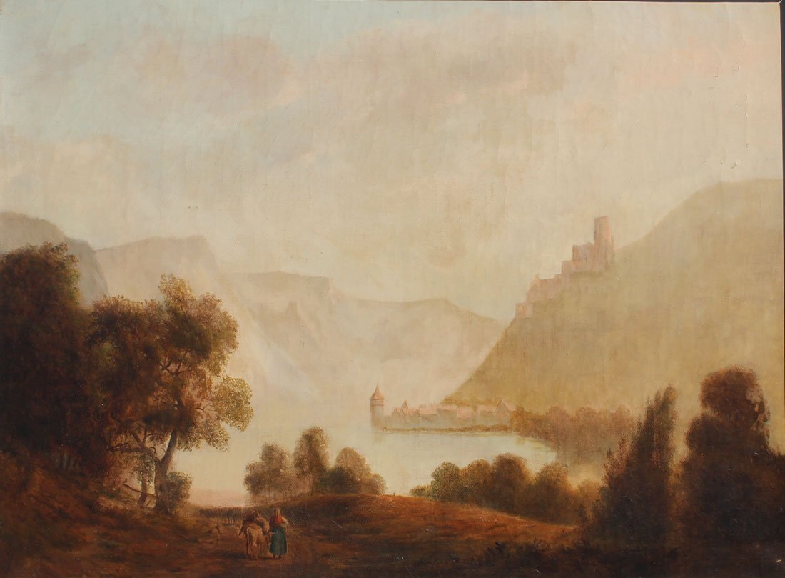 HUDSON RIVER SCHOOL STYLE PANORAMIC 19TH LANDSCAPE