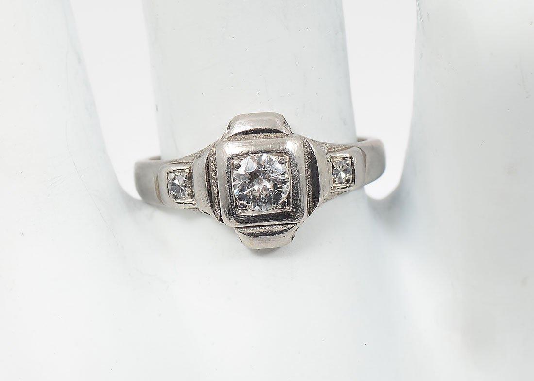RARE PALLADIUM DIAMOND RING
