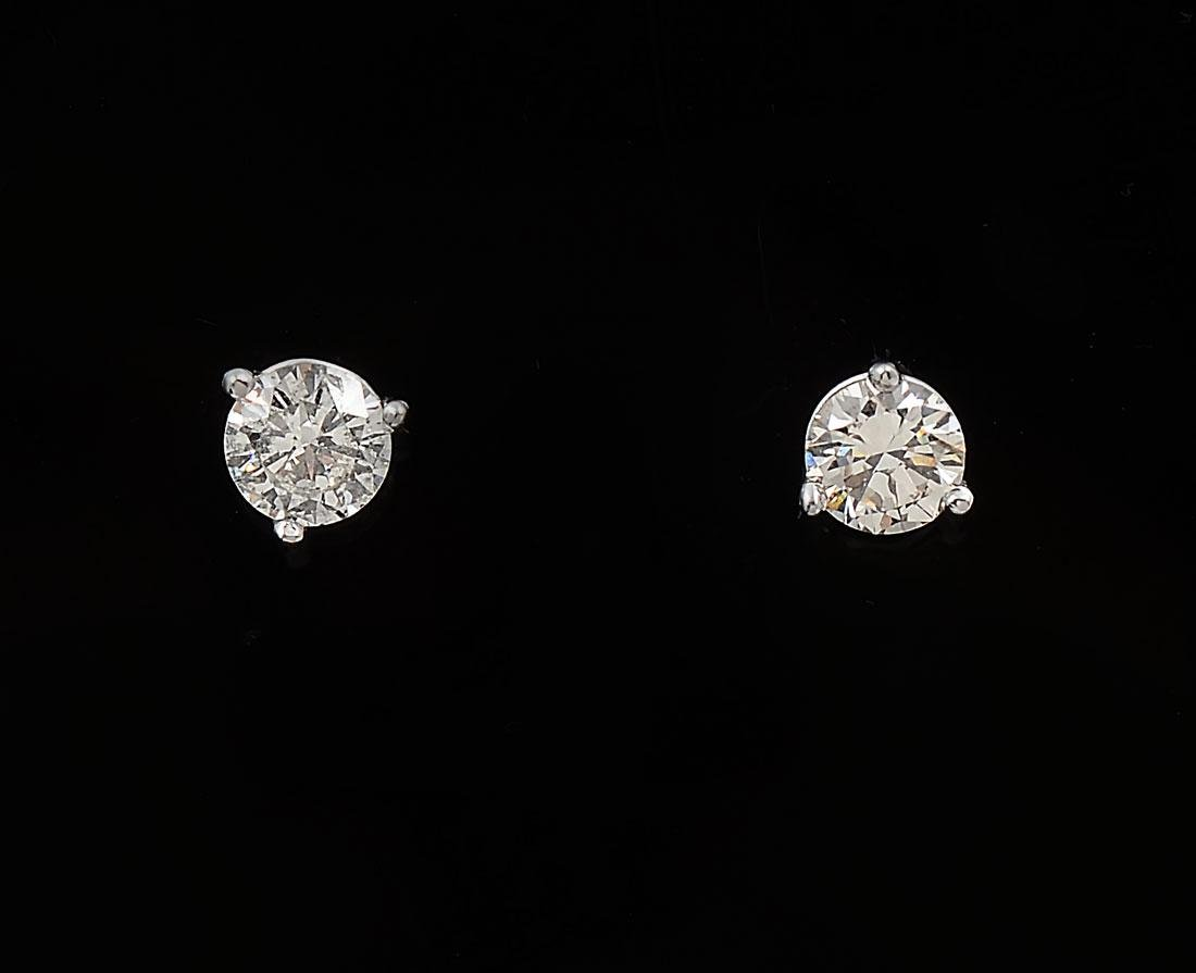 14K MARTINI CUT EAR STUDS
