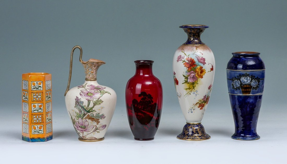 5 PIECE COLLECTION OF ROYAL DOULTON VASES