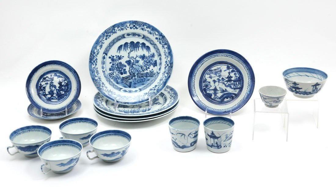 15 PIECE COLLECTION OF 19TH CENTURY CANTON CHINA
